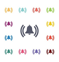 bell flat icons set vector image