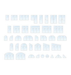 big set of different types windows and door vector image