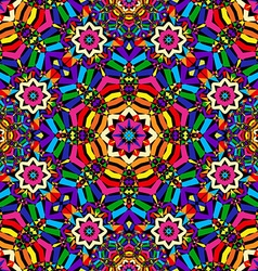 Bright circular seamless kaleidoscope pattern vector