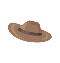 brown classical hat with brim vector image