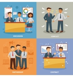 Business life set vector