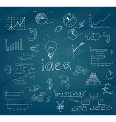 Business sketch chalkboard vector image
