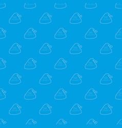 Cap for sleep pattern seamless blue vector