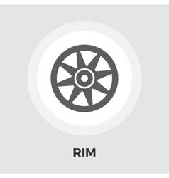 Car rim flat icon vector