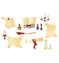 cartoon parchment rolls vector image