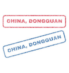 China dongguan textile stamps vector