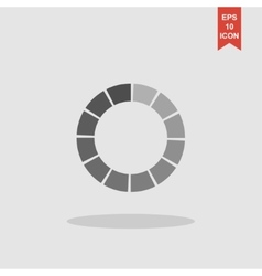 circular loading icon vector image