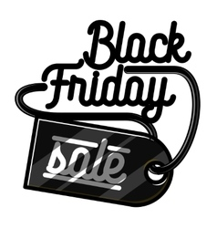 Color vintage black friday sale emblem vector