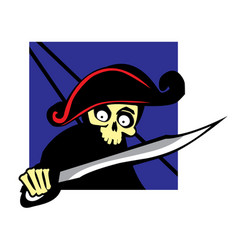 dead pirate with boarding saber vector image