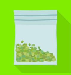 Design bag and marijuana logo web vector