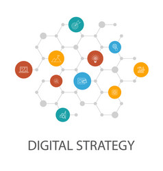 Digital strategy presentation template cover vector