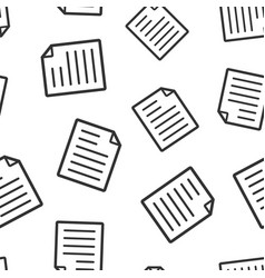document note icon seamless pattern background vector image