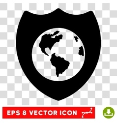 Earth Shield Eps Icon vector