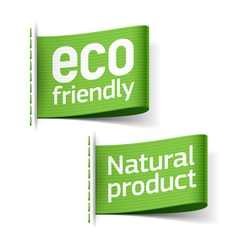 Eco friendly and Natural product labels vector image