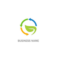 eco recycle arrow business logo vector image