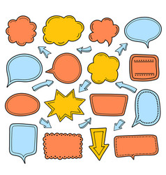 empty colorful dialogue clouds bubble collection vector image