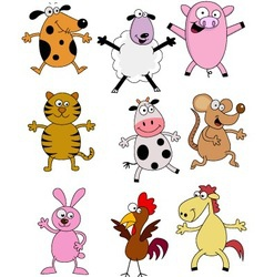 farm animal cartoons vector image