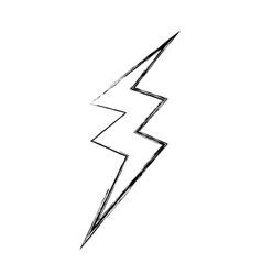 Figure thunder symbol icon warning alert vector