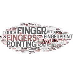 Finish word cloud concept vector