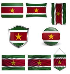 Flag suriname vector