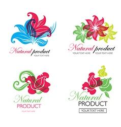 flower logo 6 vector image