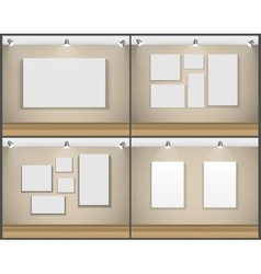 Frame on Wall for Your Text and Images Set vector