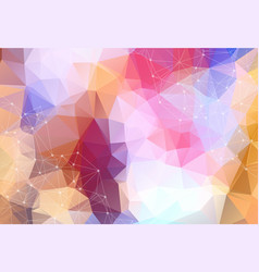 geometric colorful polygonal background molecule vector image