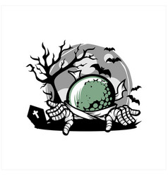 golf halloween theme vector image