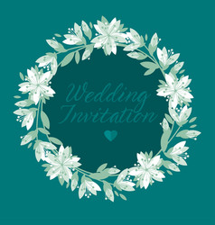 green and white floral pattern vector image
