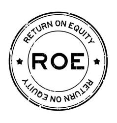 Grunge black roe abbbreviation return on vector