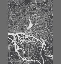 Hamburg city plan detailed map vector