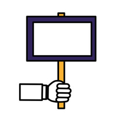 Hand human with protest label vector