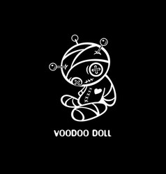 Hand-made voodoo doll vector