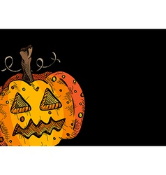 Happy Halloween old pumpkin face lantern EPS10 vector
