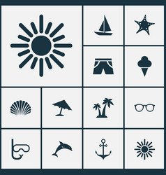 Hot icons set collection of armature goggles vector