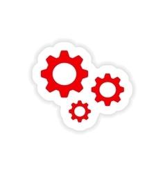 icon sticker realistic design on paper settings vector image