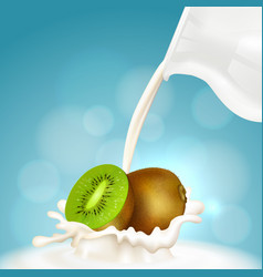 kiwi and milk jug vector image