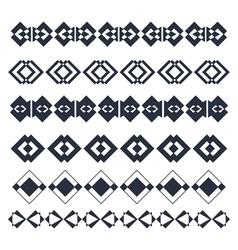 Line border design elements abstract geometric vector