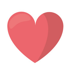 Love heart romantic symbol vector