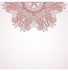 Mehndi henna design background vector image