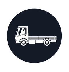 mini truck without cargo icon vector image