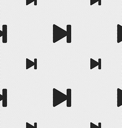 Next track icon sign Seamless pattern with vector