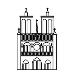 Notre dame catedral monument vector