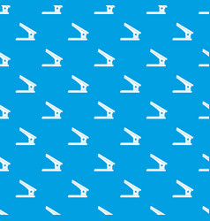 Office paper hole puncher pattern seamless blue vector