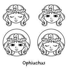 Ophiuchus astrology sign vector