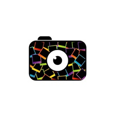photography logo with polaroid vector image