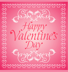 Pink happy valentines day background card vector