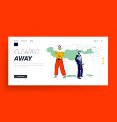 Positivity landing page template happy male vector