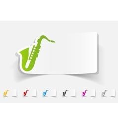 realistic design element saxophone vector image