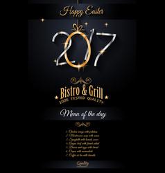 restaurant menu template for 2017 easter vector image